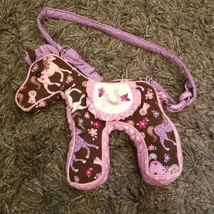 Used, Cute patch horse purse. for sale